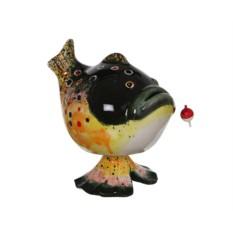 Копилка с качающейся головой Рыбка с наживкой