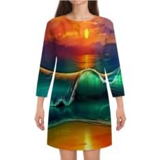 Платье с рукавами Закат