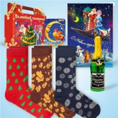 Набор с дизайнерскими носками «Праздничный»