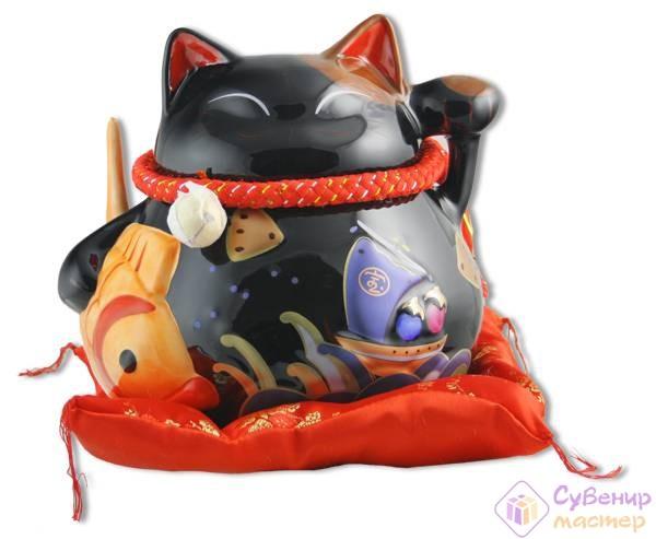 Сувенирный кот удачи «Защита от зла и много посетителей!»