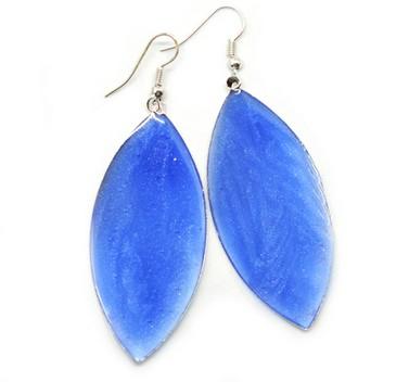 Синие серьги Листья