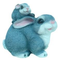 Декоративная садовая фигура Заяц с зайчонком