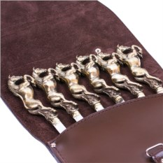 Подарочный набор из 6 шампуров в колчане Лошади