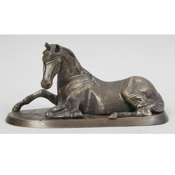 Бронзовая статуэтка Лошадь лежащая