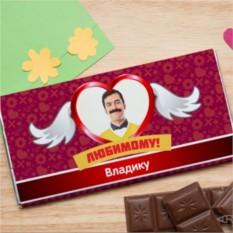 Шоколадная открытка Полёт любви