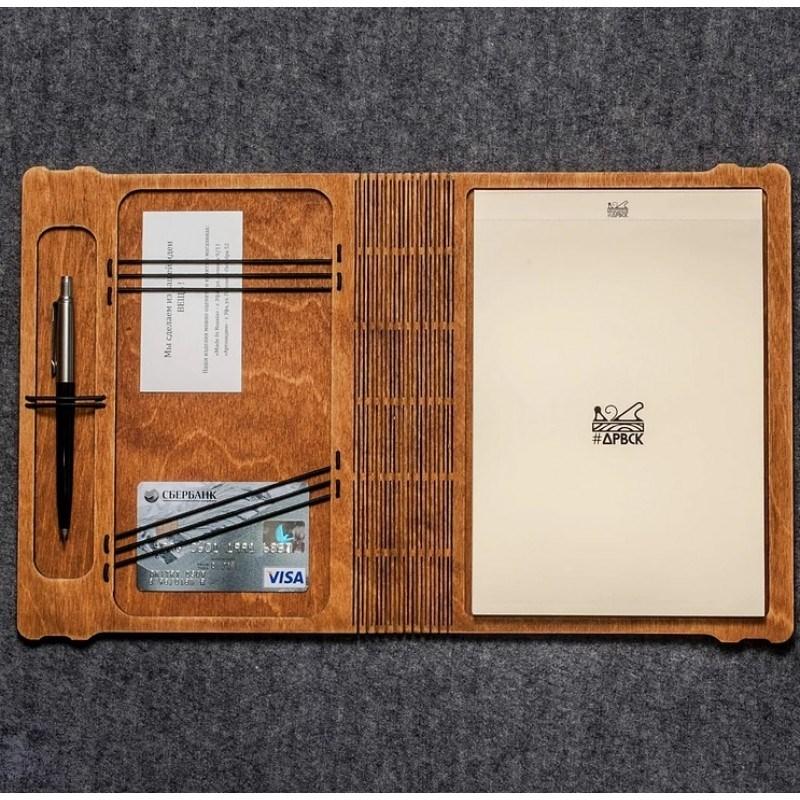 Деревянный блокнот-органайзер DRVSK
