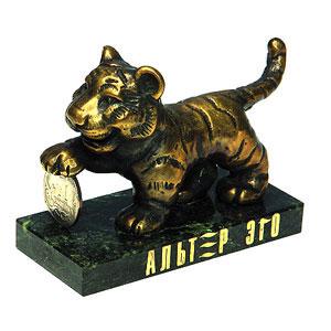 Сувенир «Тигр с копейкой»