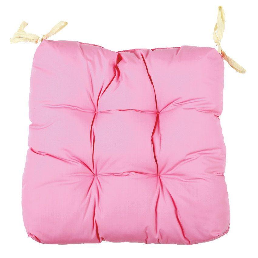 Подушка для стула (Цвет: розовый)
