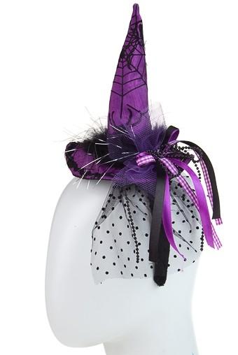 Маскарадный обруч на голову для взрослых Шляпка ведьмы