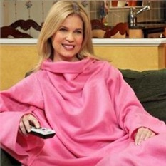 Плед с рукавами Snuggie, розовый