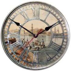 Сувенирные настенные часы Санкт-Петербург. Нева