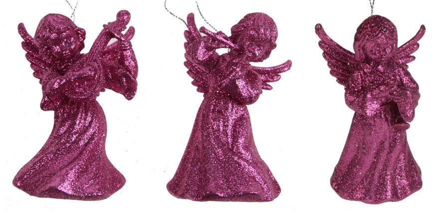 Игрушка ёлочная Ангел, розовая