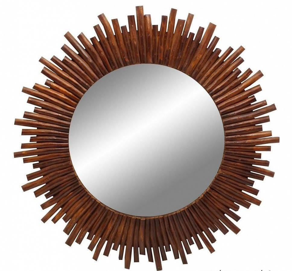 Зеркало настенное, в виде солнца
