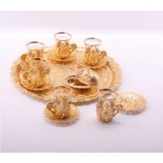 Чайный сервиз на 6 персон Чистое золото