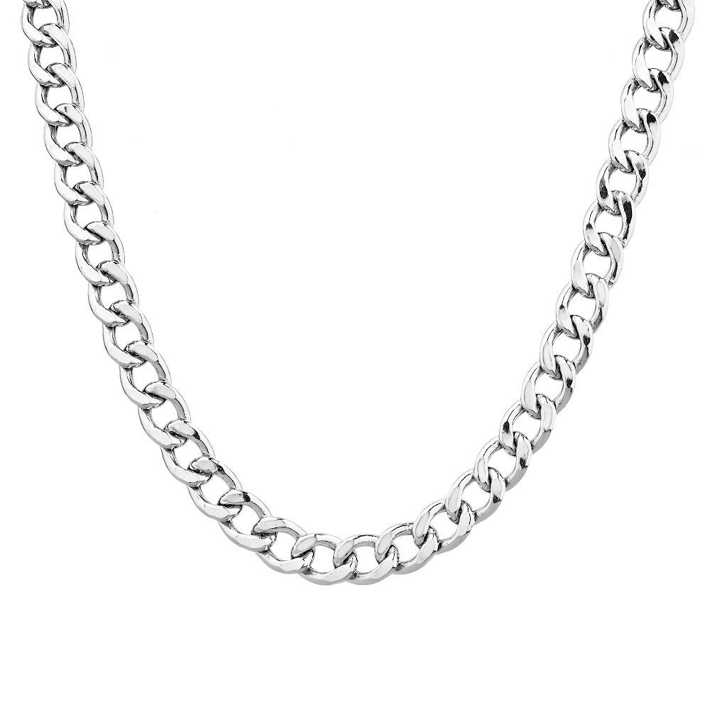Мужская серебряная цепочка плетения Панцирь