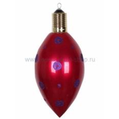 Елочная игрушка Клубничка бордового цвета