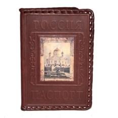 Кожаная обложка для паспорта с фотопечатью