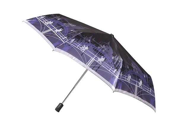 Женский облегченный зонт Fabretti в три сложения
