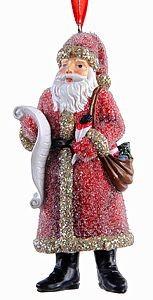 Елочная игрушка Заснеженный Санта