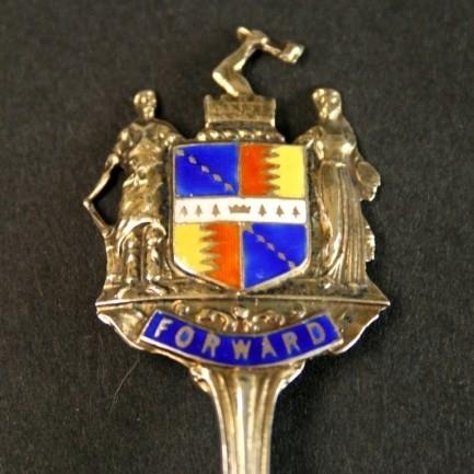 Серебряная ложка с девизом «Вперёд!»