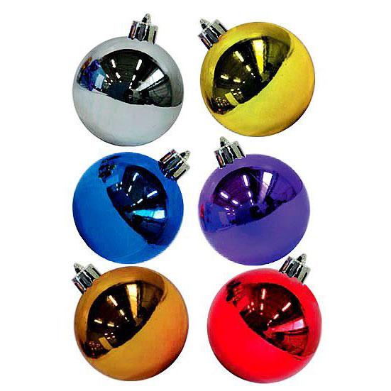 Набор разноцветных глянцевых шаров