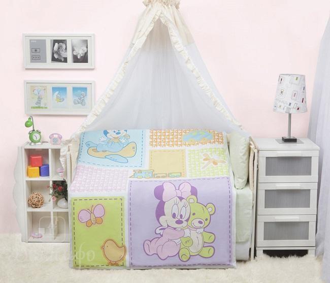 Комплект в детскую кроватку Микки И Мини Disney