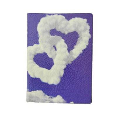 Обложка для паспорта Сердца из облаков
