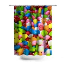 3D-штора для ванной Конфетки