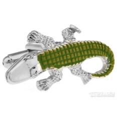Запонки «Крокодил» в именной коробке с гравировкой