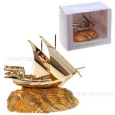 Фигурка декоративная Золотистый корабль