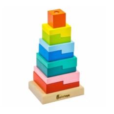 Пирамидка Ступеньки (9 деталей)