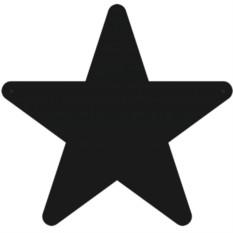 Металлическая магнитная доска на стену Звезда