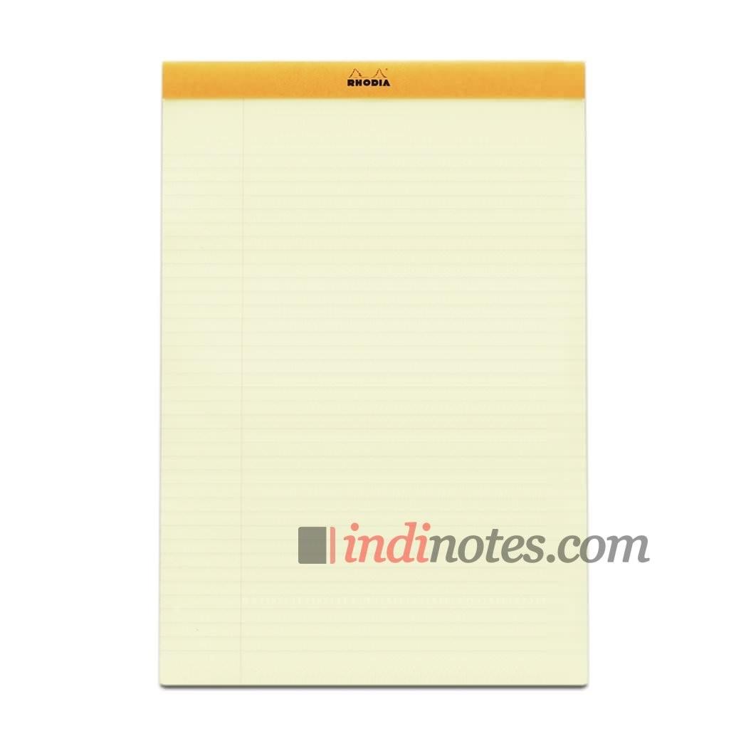 Блокнот Rhodia Orange A4 Legal Pad Yellow stapled №19