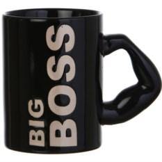 Черная кружка Big boss , объем 500 мл