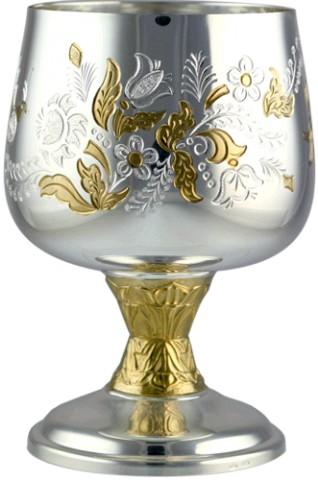 Серебряный бокал Бабочка