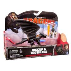 Игровой набор Dragons Дракон и всадник (Беззубик черный)
