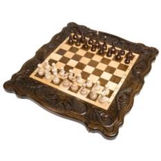 Средние шахматы и нарды ручной работы Корона