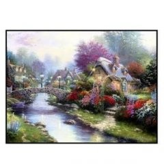 Раскраска по номерам на холсте Дом у реки