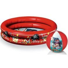 Надувной бассейн и пляжный мяч Пират Микки