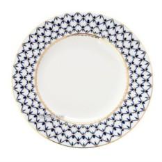 Фарфоровая мелкая тарелка Кобальтовая сетка от ЛФЗ
