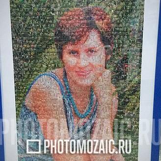 Фотомозаика в подарок на 30 лет девушке