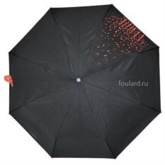 Черный зонт с красными каплями Ferre Milano