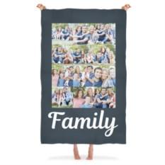 Плед с вашим фото Family