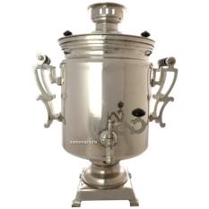 Электрический самовар 45 литров Буфетный с покрытием под серебро, арт. 124541