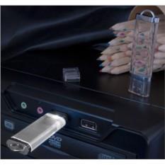 Прозрачная флешка с белой подсветкой Shine на 16 Gb