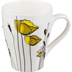 Кружка Желтые цветы, объем 300 мл