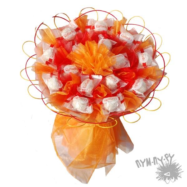 Букет из конфет Оранжевое солнце