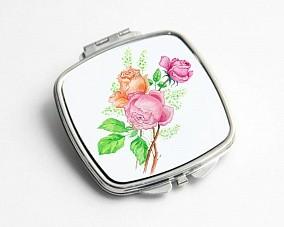 Зеркальце карманное «Розы»