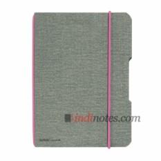 Тетрадь со сменным блоком Herlitz my.book Flex Canvas Pink