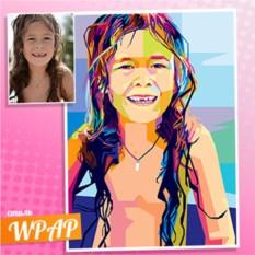 Портрет девочки в стиле WPAP по фото